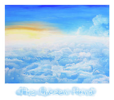 The Unseen Hand - Inspirational Visual Pun Poster by Rayanda Arts