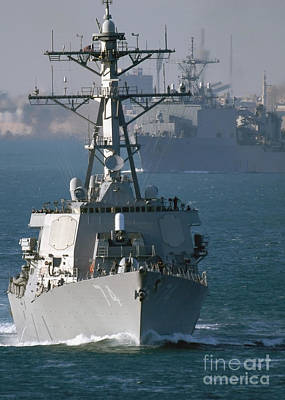 The U.s. Guided Missile Destroyer Uss Poster