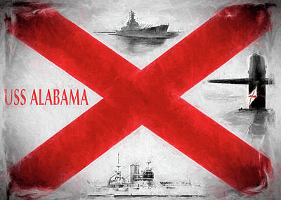 The Uss Alabamas Poster by JC Findley