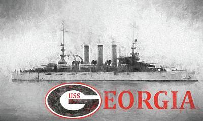 The Uss Georgia Poster by JC Findley