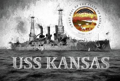 The Uss Kansas Poster by JC Findley