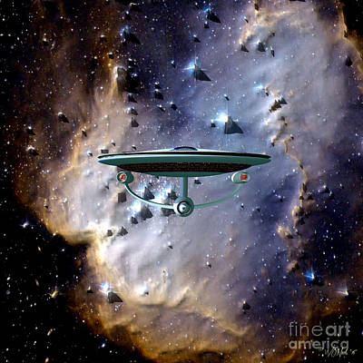 The Emergence Of The Uss Enterprise Poster by Walter Oliver Neal