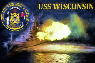 The Uss Wisconsin Poster