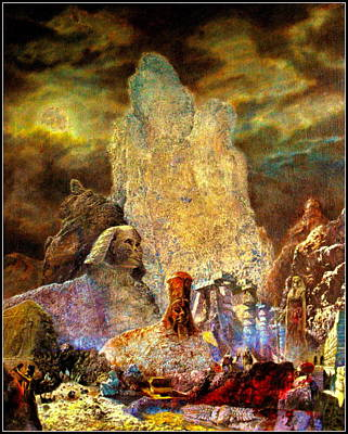 Poster featuring the painting The Valley Of Sphinks by Henryk Gorecki