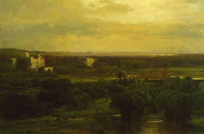 The Valley Of The Olives Poster by George Inness