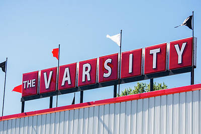 Poster featuring the photograph The Varsity Sign by Parker Cunningham