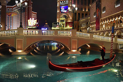 Poster featuring the photograph The Venetian Las Vegas by Dung Ma