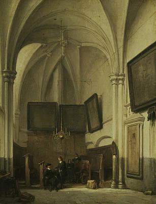 The Vestry Of St. Stevens Church In Nijmegen Poster by Johannes Bosboom