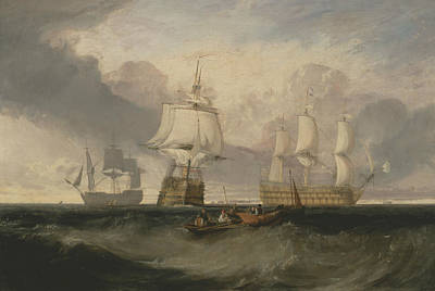 The Victory Returning From Trafalgar In Three Positions Poster