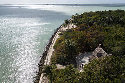 The View From Bigg Baggs Lighthouse On Key Biscayne Florida Poster
