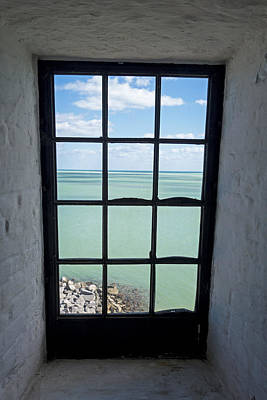The View From The Lighthouse Window Bill Baggs Lighthouse Key Biscayne Florida Poster