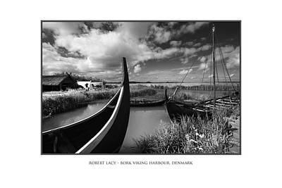 The Viking Harbour At Bork Poster by Robert Lacy