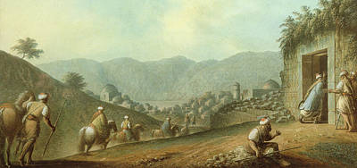 The Village Of Betania With A View Of The Dead Sea Poster