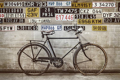 The Vintage Bicycle Poster by Martin Bergsma