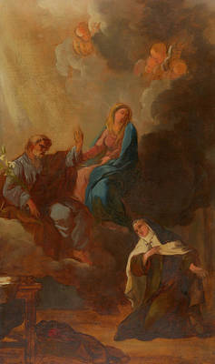 The Virgin Placing St Teresa Under The Protection Of St Joseph Poster