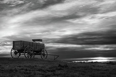 The Wagon - B/w Poster