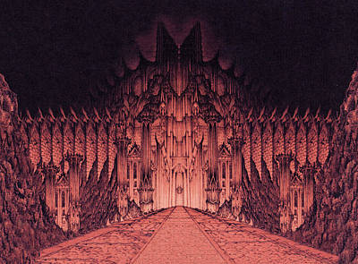 The Walls Of Barad Dur Poster