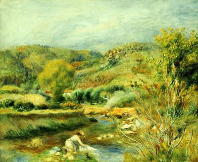 The Washerwoman Poster by Pierre Auguste Renoir