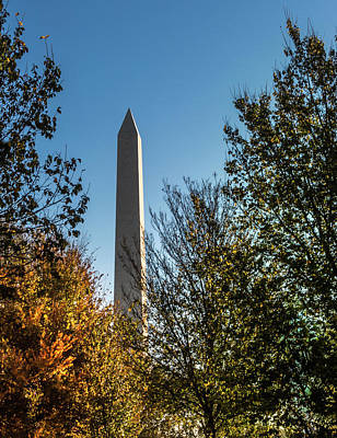 The Washington Monument In Fall Poster