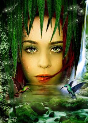 The Water Bearer Poster by Julie L Hoddinott