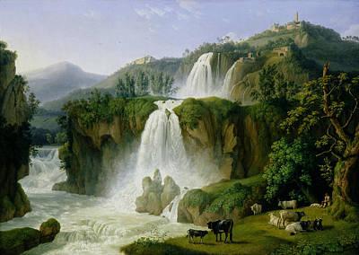 The Waterfall At Tivoli Poster