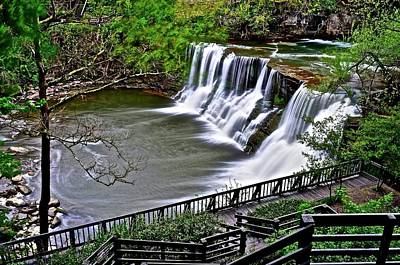 The Waterfall In Chagrin Poster by Frozen in Time Fine Art Photography