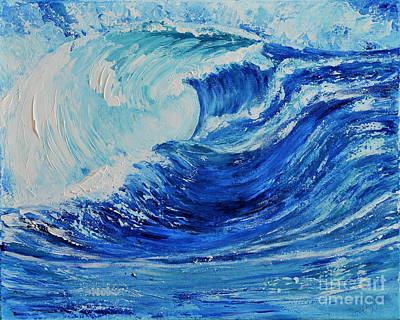 Poster featuring the painting The Wave by Teresa Wegrzyn