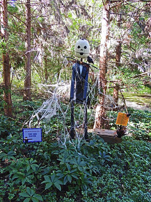 The Web Slayer Scarecrow At Cheekwood Botanical Gardens Poster