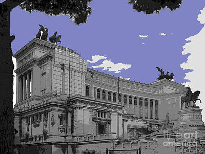 The Wedding Cake In Rome Poster by Al Bourassa