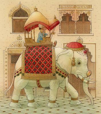 The White Elephant 01 Poster by Kestutis Kasparavicius