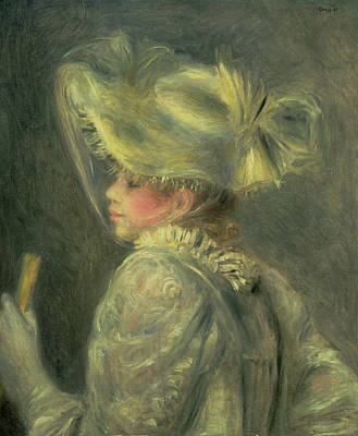 The White Hat Poster by Pierre Auguste Renoir