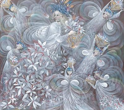 The White Hibiscus Poster by Annael Anelia Pavlova