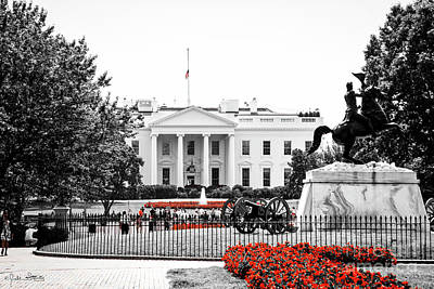 The White House #1 Poster by Julian Starks