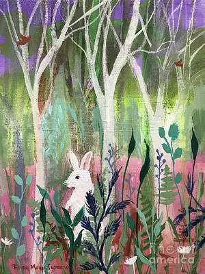 Poster featuring the painting The White Rabbit by Robin Maria Pedrero