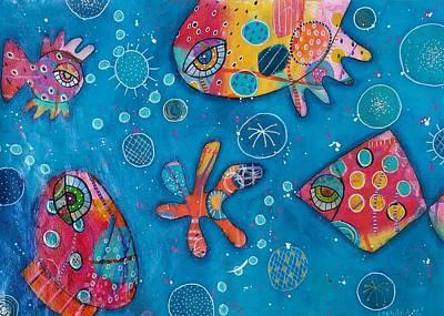 The Wild Kingdom - Undersea Poster by Barbara Orenya