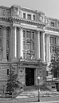Poster featuring the photograph The Wilson Building In Black And White by Greg Mimbs