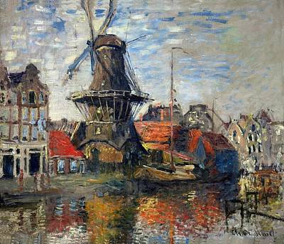 The Windmill Amsterdam Claude Monet 1874 Poster by Movie Poster Prints