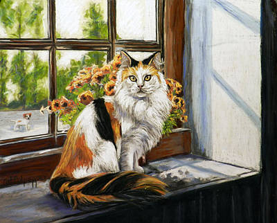 The Window Seat Poster by Cat Culpepper