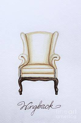 The Wingback Chair Poster by Elizabeth Robinette Tyndall