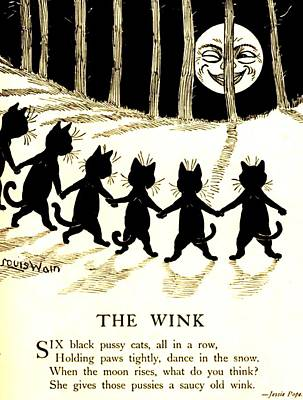 The Wink Six Black Pussy Cats Poster