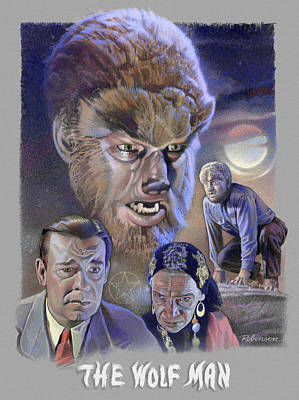The Wolf Man Poster by David Robinson