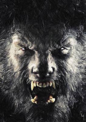 The Wolfman Poster by Taylan Apukovska