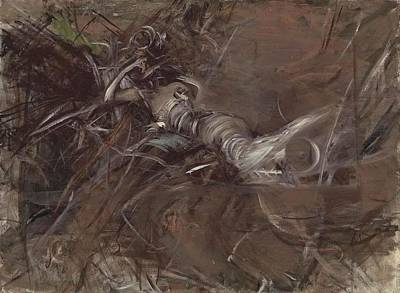 The Woman Lying Figure Poster by Giovanni Boldini