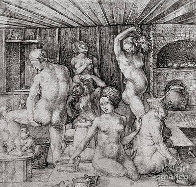 The Women's Bath, 1496 Poster by Albrecht Durer