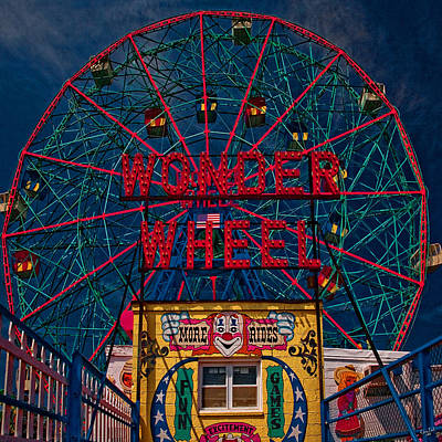 The Wonder Wheel At Luna Park Poster