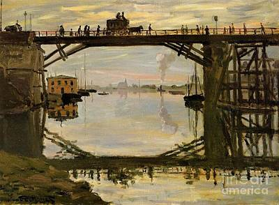 The Wooden Bridge Poster by Monet