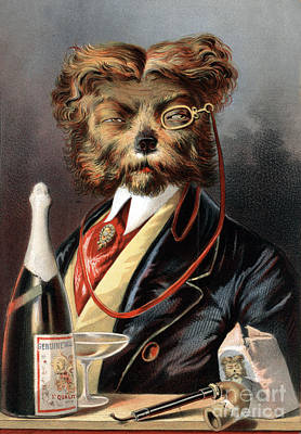 The Young Swell Aristocratic Dog 1869 Poster