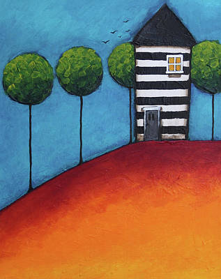 The Zebra House Poster by Lucia Stewart