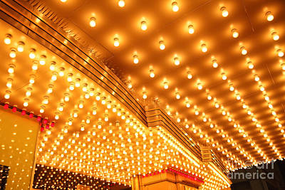 Theatre Entrance Marquee Lights Poster