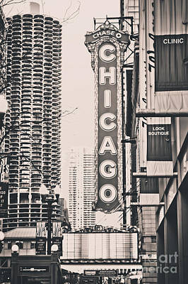 Theatre Sign In Chicago Poster